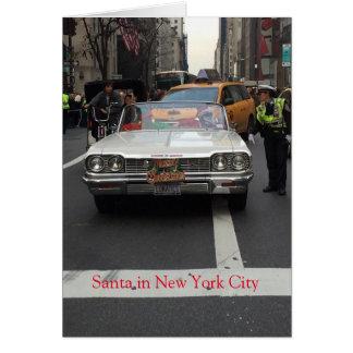 Papai noel na Nova Iorque, cartão de Natal