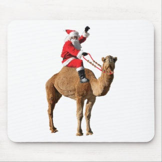 Papai noel no Natal do camelo Mouse Pad