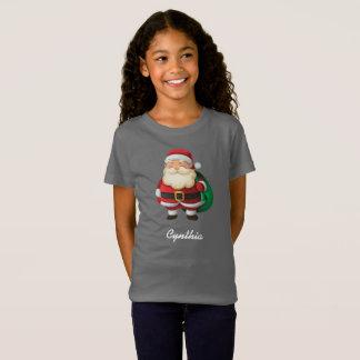 Papai Noel personalizado com o saco de presentes Camiseta