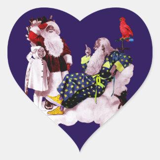 PAPAI NOEL, POUCO coração do Natal de ANGEL& Adesivo Em Forma De Coração