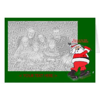 Papai noel que Golfing o modelo do cartão de Natal