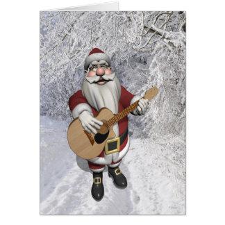 Papai Noel que joga canções do Natal em sua Cartão Comemorativo