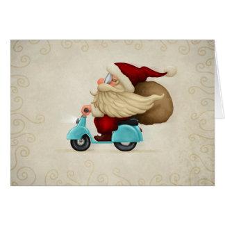 Papai Noel rápido Cartão Comemorativo