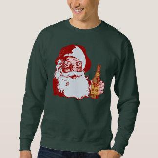 Papai Noel retro com um Natal da cerveja Moletom