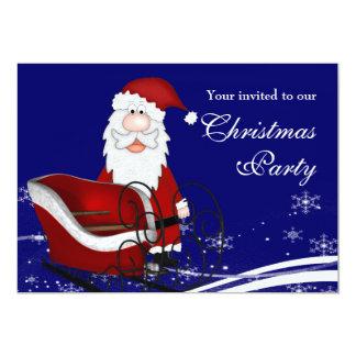 Papai noel & sua festa de Natal do trenó Convite 12.7 X 17.78cm