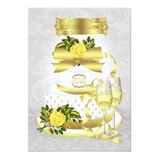 Papéis do convite do aniversário de casamento