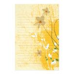 papel alinhado floral dourado do design moderno papel personalizado