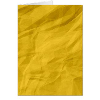 Papel amarrotado retro amarelo cartao