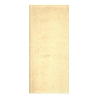 Papel antigo amarelado vazio 10.16 x 22.86cm panfleto