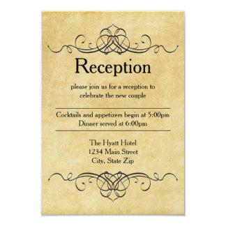 Papel antigo - convite da recepção