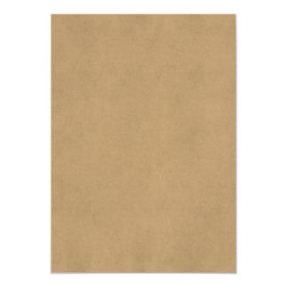 Papel antigo de Tan Brown do pergaminho do Convite Personalizados