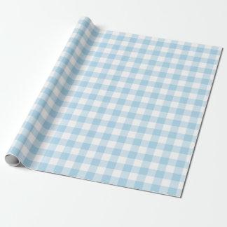 Papel azul e branco da luz - do guingão de papel de presente