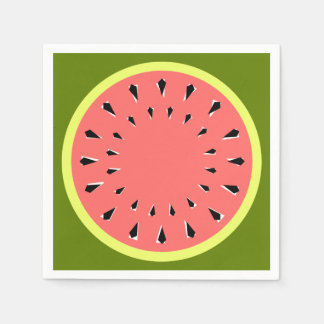 Papel cor-de-rosa dos guardanapo da melancia