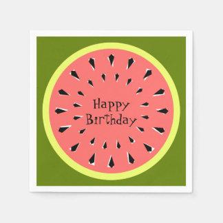 Papel cor-de-rosa dos guardanapo do feliz
