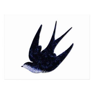 papel da andorinha cortado (livre) cartão postal