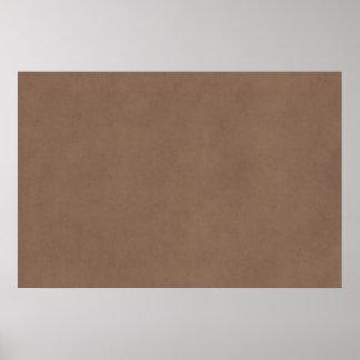 Papel da antiguidade do pergaminho de Brown do Buc Poster