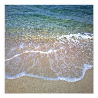Papel da foto do beira-mar (cetim)