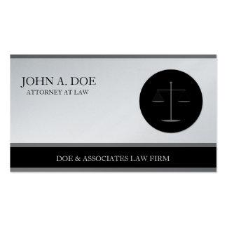 Papel da platina da empresa de advocacia B/W do ad Modelo Cartões De Visita