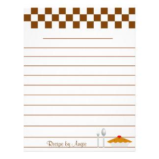 Papel da receita das tortas do tabuleiro de damas  flyer 21.59 x 27.94cm