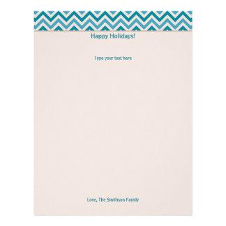 Papel de carta azul da letra do feriado/Natal de C