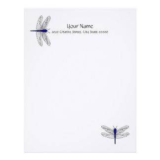 Papel de carta azul de linho do cabeçalho da libél