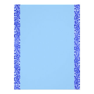 Papel de carta azul floral do vintage retro