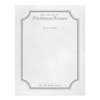 Papel de carta cinzento da letra do feriado/Natal