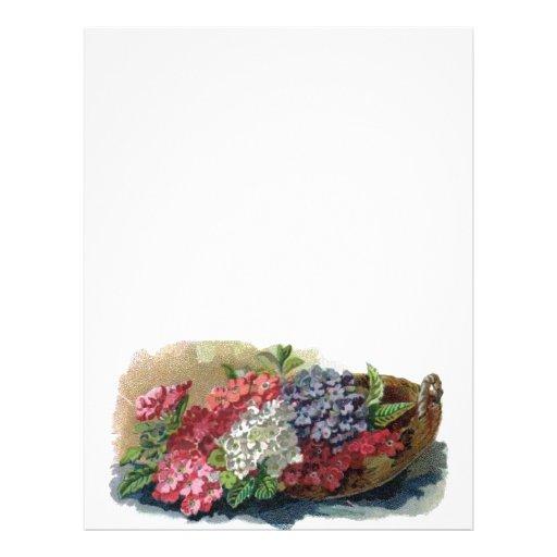 Papel de carta colorido do cabeçalho dos Verbenas