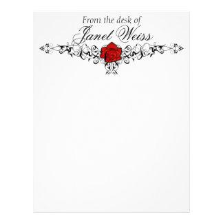 Papel de carta cor-de-rosa do casamento da videira