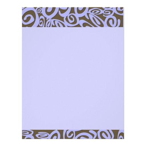 Papel de carta da arte dos redemoinhos do azul do