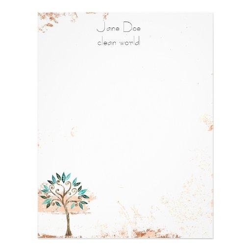papel de carta da árvore