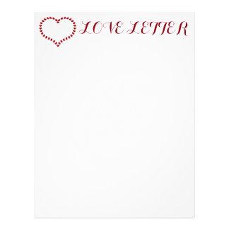Papel de carta da carta de amor