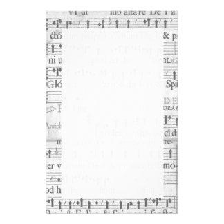 Papel de carta da música papelaria