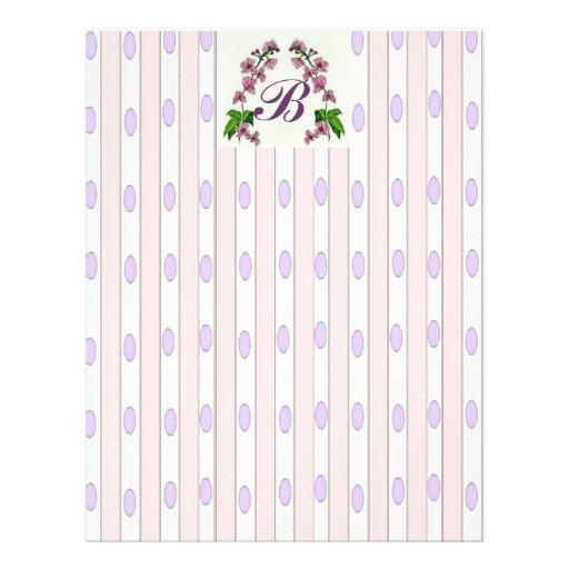 Papel de carta da orquídea de Lavendar