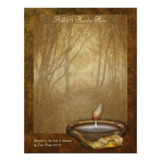 Papel de carta da vela da floresta