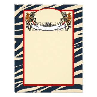 Papel de carta da zebra