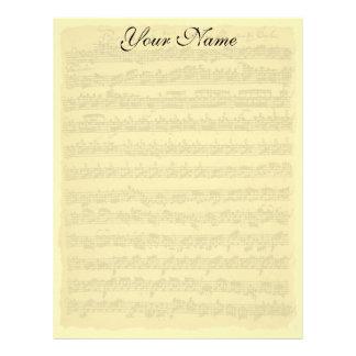 Papel de carta de Bach Partita
