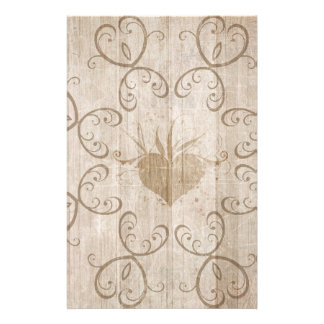 Papel de carta de madeira resistido papelaria