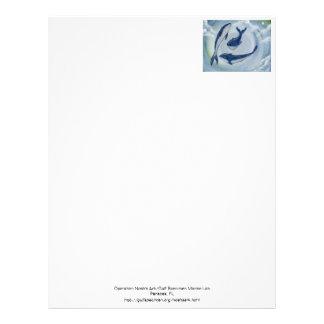 Papel de carta de três baleias