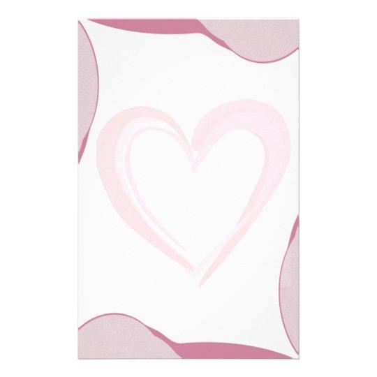 "Papel de carta ""Diferencial rosa"" Papelaria"