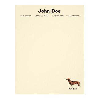 Papel de carta do cão do Dachshund