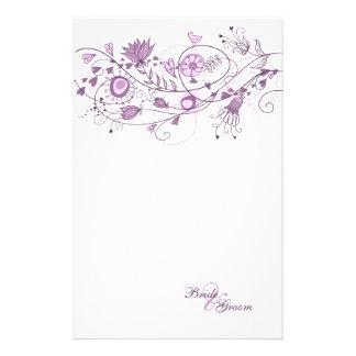 Papel de carta do casamento - lavanda lunática 1 papelaria
