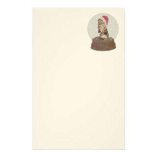 Papel de carta do COELHO SNOWGLOBE do ANGORA do Papelaria