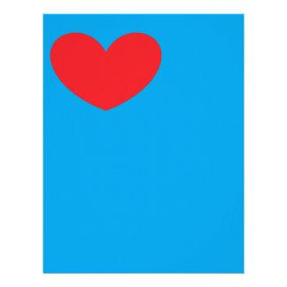 Papel de carta do coração