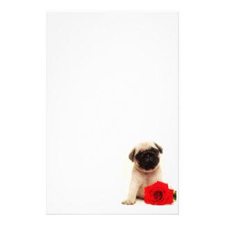 Papel de carta do filhote de cachorro do Pug Papelaria