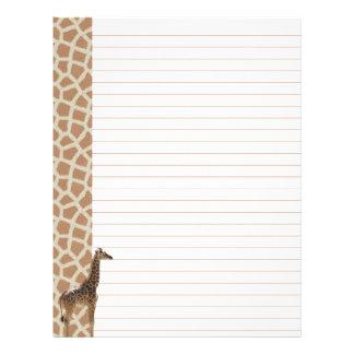 Papel de carta do girafa