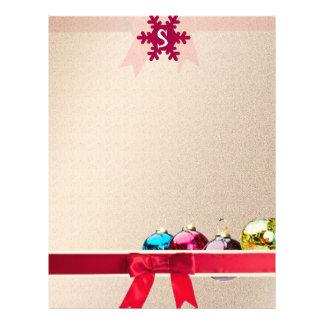 Papel de carta do Natal/modelo monograma do