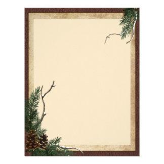 Papel de carta do pinho do inverno - insecto