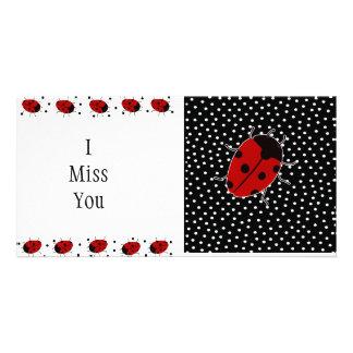 Papel de carta do ponto do joaninha cartão com foto