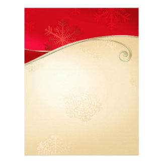 Papel de carta do vermelho do ouro do feriado do N